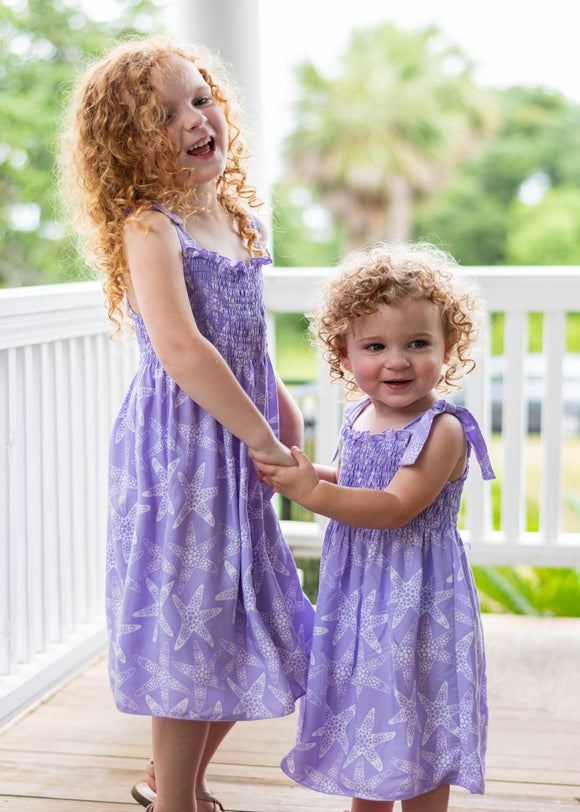 Kids Dress in Aqua, Pink, or Purple
