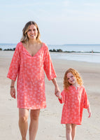 Kids Tunic Cover Up: Coral or Periwinkle