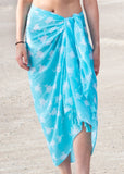 Cotton Sarong: Aqua Sea Turtle