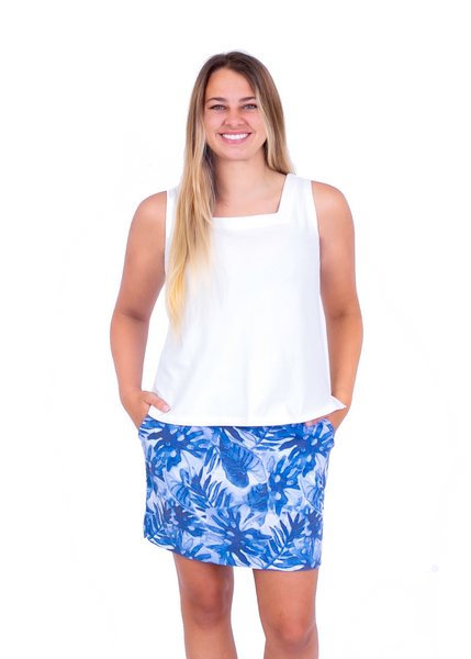 Blue Water: Holly | Short Skort Navy Monsterra 2021 Collection