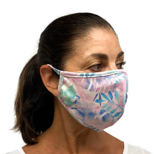 Cotton Face Mask Purple Monsterra