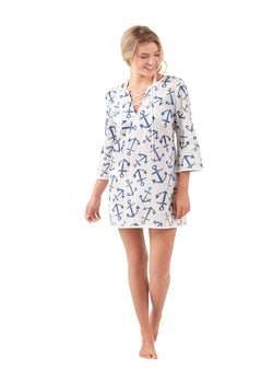 Mud Pie: Easton | Tunic in Navy Anchors Away 2018 Collection