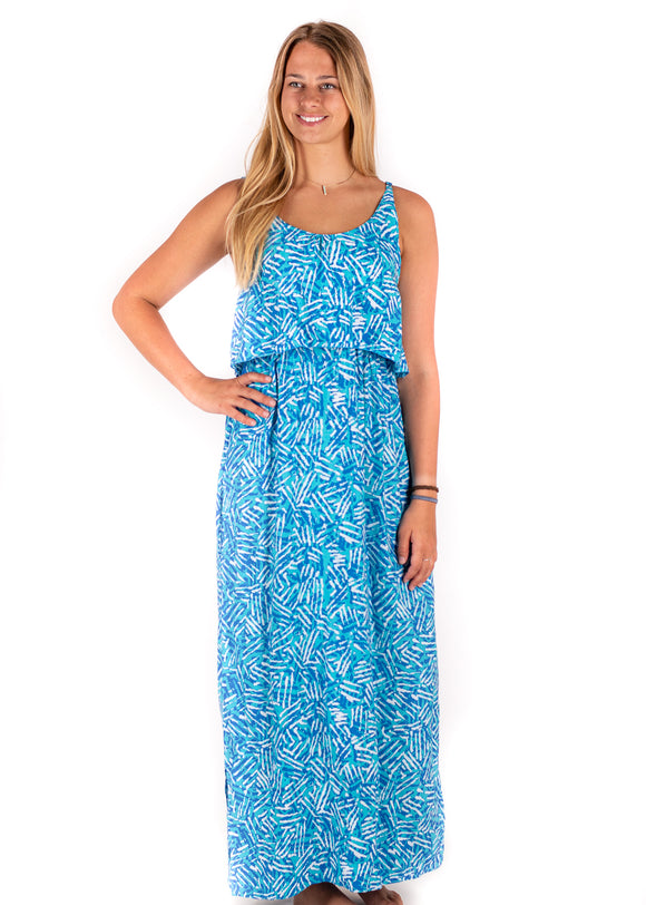 Tybee Island Clothing: Lindsey | Maxi Dress in Blue 2021 Collection