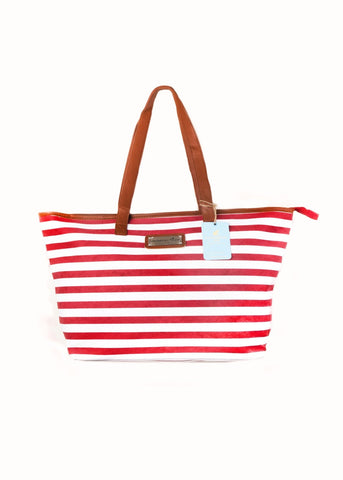 Caribbean Joe: Nautical Stripes | Oversized Tote
