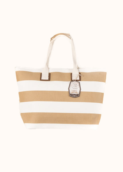 "Sun ""N"" Sand Large Tote Tan and Light-Natural"