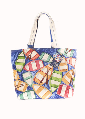 Paul Brent: Rowboat Reflection | Large Tote