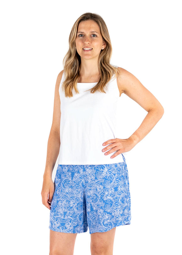 Tybee Island Clothing:  Wendy | Calypso Shorts Periwinkle 2020 Collection