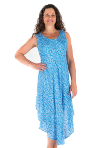 Tybee Island Clothing: Maggie | Midi Dress Blue 2020 Collection
