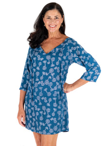 Tybee Island Clothing: Rosie | Navy Cover Up
