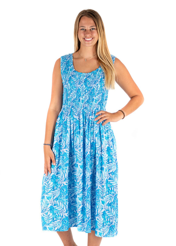 Tybee Island Clothing Company: Elizabeth | Midi Dress Blue 2020 Collection