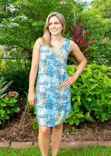 Tybee Island Clothing Company: Valerie | V-Neck Shift Dress Animal 2021 Collection