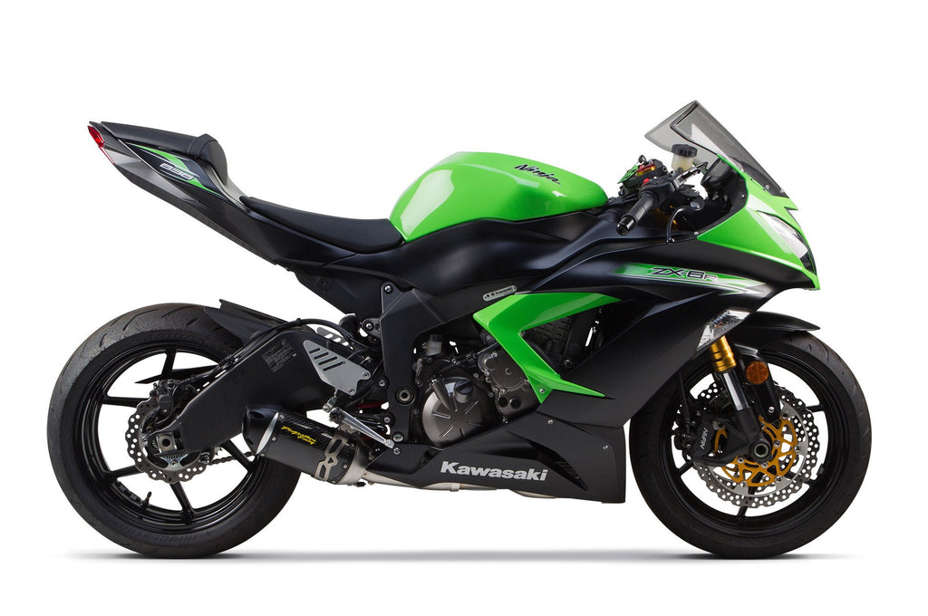 Kawasaki ZX-636R/6RR (2009-2020) S1R Black Aluminum Full System - Part Number 005-3860106-S1B - Two Brothers Racing - TBR