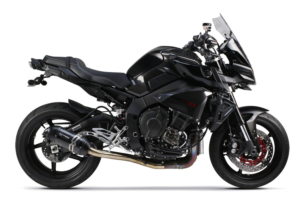 Yamaha FZ-10 (2017-2020) S1R Black Carbon Slip-On Cat-Eliminator System - Two Brothers Racing - TBR