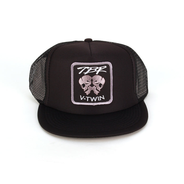 TBR Trucker Hat - Monochrome Skulls - Two Brothers Racing - TBR