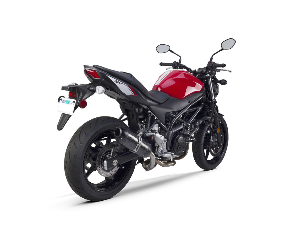 Suzuki SV650 / SV650S (2017-2018) S1R Black  Aluminum Slip-On - Part Number 005-4500406-S1B - Two Brothers Racing - TBR