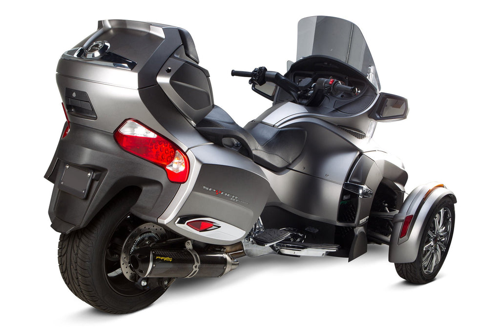 Can-Am Spyder RT (2014-2017) S1R Black Aluminum Slip-On - Part Number 005-3930406-S1B - Two Brothers Racing - TBR