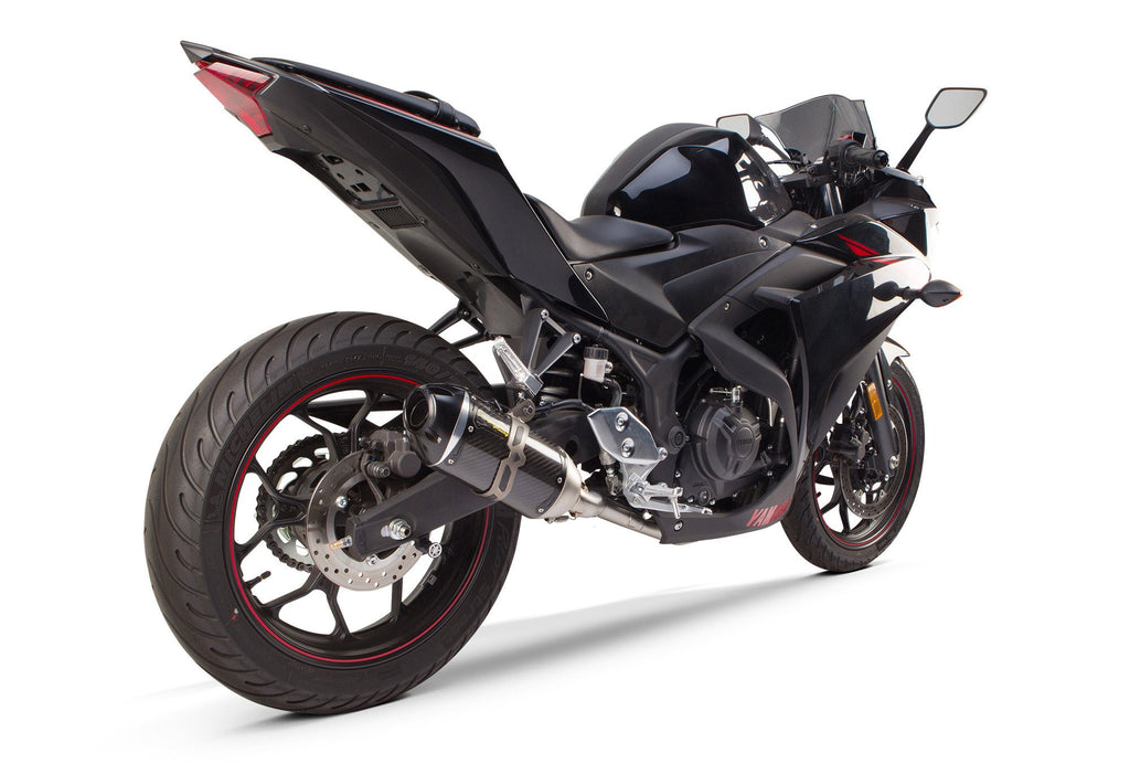 Yamaha R3 (2015-2017) S1R Black Aluminum Full System - Part Number 005-4160106-S1B - Two Brothers Racing - TBR