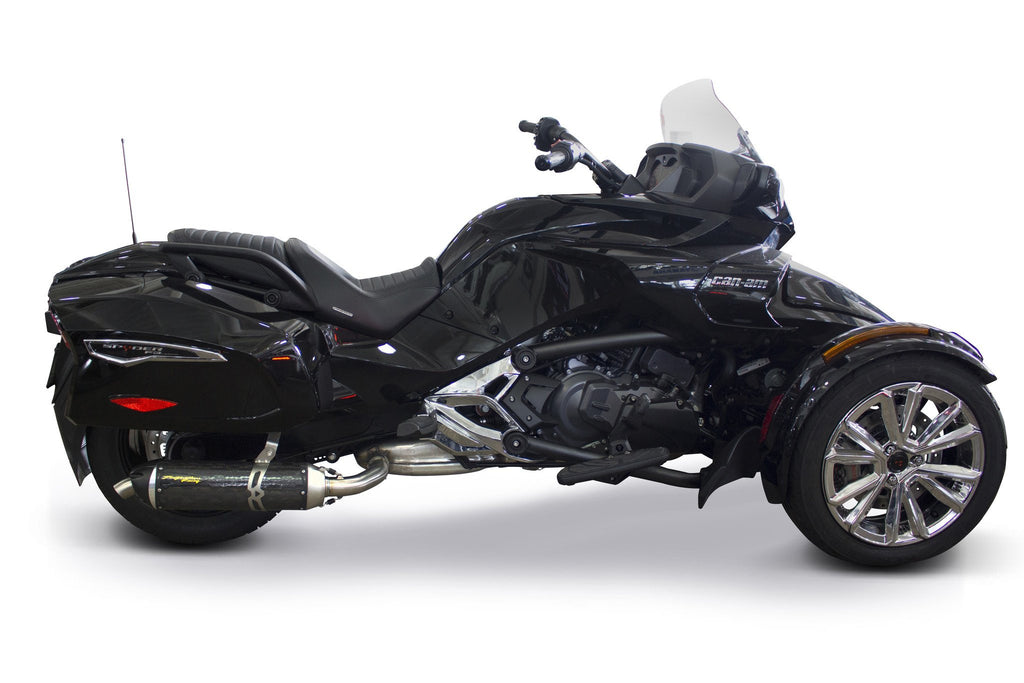 Can-Am Spyder F3T (2015-2020) S1R Black Series Aluminum Slip-On - Part Number 005-4660406-S1B - Two Brothers Racing - TBR