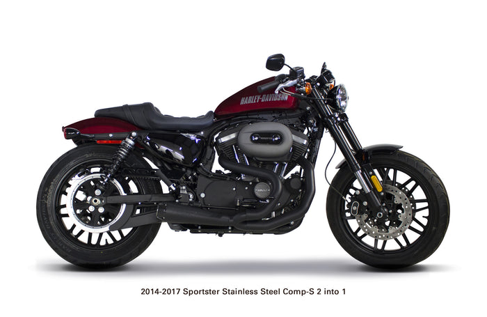 Harley Davidson Sportster Comp-S Exhausts (2014-2017) - Two Brothers Racing - TBR