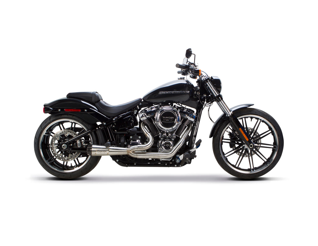 Harley Davidson Softail (2018) Comp-S 2-1 Ceramic Black - Part Number 005-4980199-B - Two Brothers Racing - TBR