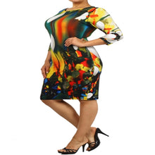 Load image into Gallery viewer, Womens Rainbow Inspired Casual Cocktail Dress L 1X 2X