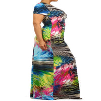 Womens Snakeskin  Graphic Designed Maxi Dress XL 2X 3X