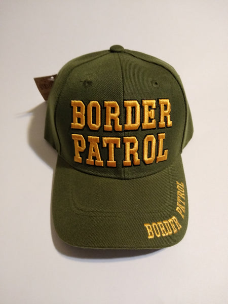 Olive Drab Border Patrol Deluxe Low Profile Adjustable Baseball Cap Hat