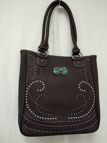 Womens Montana West Brown Tote Purse