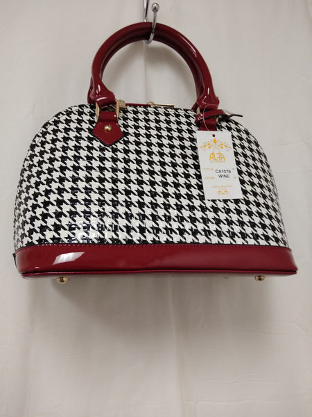 WomensRed And Black Checkered Jelly Purse