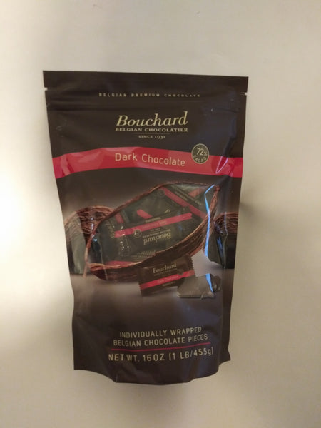 Dark Chocolate Bouchard Premium Belgium Dark Chocolate with 72% Cacao 2 Bags.