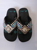 Montana West Hand Beaded Aztec Sandals 5 7 8 9 10 11