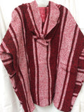 Mexican Poncho Pullover Baja Hoodie Red Sweatshirt  2X