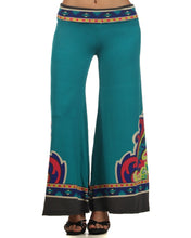 Load image into Gallery viewer, Womens Blue Turquoise Wide Leg Bolero Palazzo Pants S M L