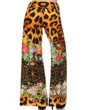 Load image into Gallery viewer, Womens Leopard Animal Print High Waisted Abstract Wide Leg Bolero Flare Pants S M L