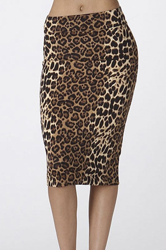 Womens Cheetah Print Skirt S, M
