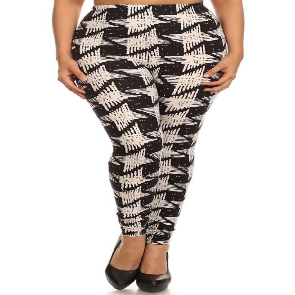 Womens Houndstooth Leggings S, M, L