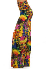 Load image into Gallery viewer, Womans Burst Of Flavors Flare Leg Pants S M L