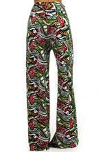Load image into Gallery viewer, Womens Paisley Print Palazzo Bolero Flare Wide Leg Leggings S, M, L