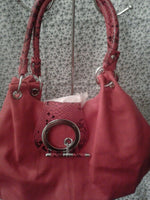 Womens Red Casual Evening Shoulder Purse