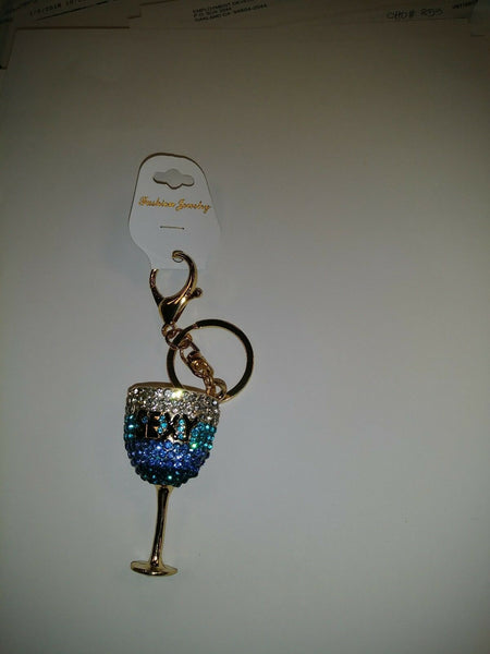 Wine Glass Sexy Key Chain