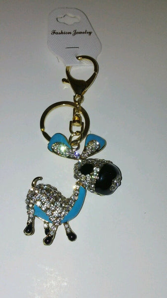 Mystical Blue Pony Key Chain