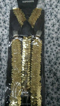 Load image into Gallery viewer, New Women Mens Clip On Y-Shaped Sequin Suspenders