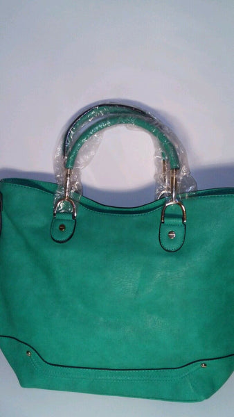 Diophy 026 Womens Green Evening Casual Tote Handbag Purse