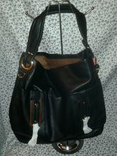Load image into Gallery viewer, Black Casual Handbag Purse with Gold Hardware