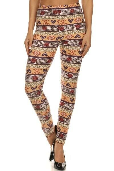 Womens Heart And Soul Graphic Leggings