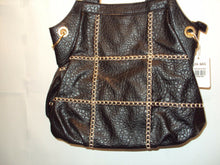 Load image into Gallery viewer, Womens Black Purse with White stitch detail