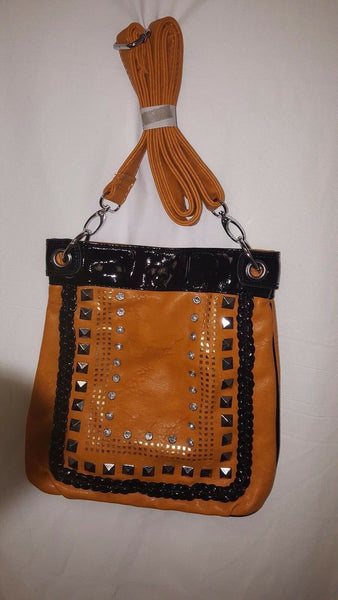 Womens Light Brown Aztec Indian Inspired Cross Body Purse