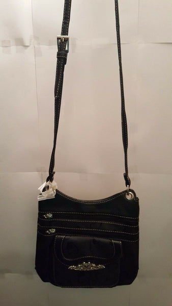 Womens Black Heart Of Mine Cross Body Purse