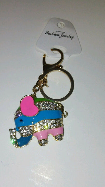 Circus Time Elephant Key Chain