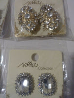 Lot of 9 Gorgeous Blingy Clip on Earrings